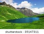 high mountains lake | Shutterstock . vector #35147311