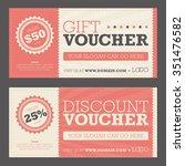 gift   discount voucher   Shutterstock .eps vector #351476582
