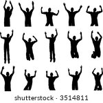 15 male dance and rave poses | Shutterstock .eps vector #3514811