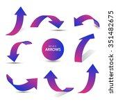 set of gradient arrows stickers   Shutterstock .eps vector #351482675