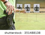 the man shooting with gun | Shutterstock . vector #351488138
