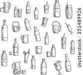 beverages  cocktails and drinks ... | Shutterstock .eps vector #351489926