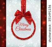 merry christmas round banner... | Shutterstock . vector #351491156