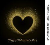 happy valentines day card with... | Shutterstock .eps vector #351496082