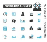 consulting business   financial ... | Shutterstock .eps vector #351501176