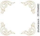 premium gold vintage baroque...   Shutterstock .eps vector #351506882