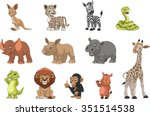Stock vector funny kids animals 351514538