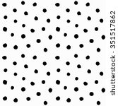 chaotic polka dots seamless... | Shutterstock .eps vector #351517862