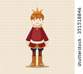 royal theme prince elements... | Shutterstock .eps vector #351518846