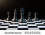 chess figures  leadership and... | Shutterstock . vector #351523202
