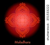 muladhara  root chakra   one of ... | Shutterstock .eps vector #351533222