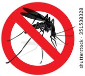 signaling  mosquitoes with... | Shutterstock .eps vector #351538328
