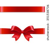 red bow with gradient mesh ... | Shutterstock .eps vector #351538736