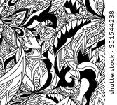 paisley seamless pattern.... | Shutterstock .eps vector #351544238