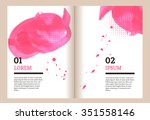 brochure template with pink...