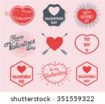 valentine's day. 14th of... | Shutterstock .eps vector #351559322