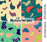 colorful spots vector... | Shutterstock .eps vector #351565136