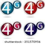 4g sign icon. mobile...   Shutterstock .eps vector #351570956