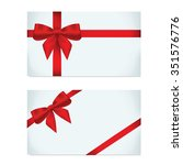 empty card with red ribbon | Shutterstock .eps vector #351576776