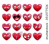 Funny Cartoon Heart Character...