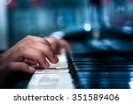 playing the piano | Shutterstock . vector #351589406