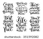 vector set of calligraphic text ... | Shutterstock .eps vector #351592082