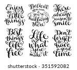 vector set of calligraphic text ... | Shutterstock .eps vector #351592082