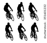 cyclists in action vector set... | Shutterstock .eps vector #351601232