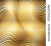 golden striped waves abstract