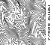 abstract black and white wavy... | Shutterstock . vector #351612815