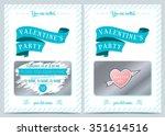 invitation valentine's day.... | Shutterstock .eps vector #351614516