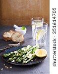 warm salad with asparagus  feta ... | Shutterstock . vector #351614705