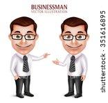 set of 3d realistic...   Shutterstock .eps vector #351616895