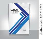business brochure | Shutterstock .eps vector #351618752