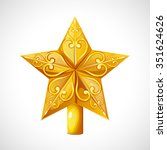 christmas star tree topper.... | Shutterstock .eps vector #351624626