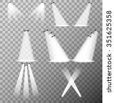 stage lights  spot lights on... | Shutterstock .eps vector #351625358