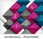 paper style design templates ... | Shutterstock .eps vector #351634082
