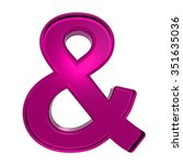 one letter from pink alphabet... | Shutterstock . vector #351635036