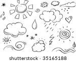 weather doodles   Shutterstock .eps vector #35165188