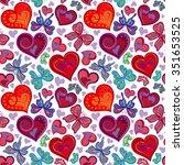 Seamless Valentine Pattern With ...
