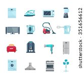 flat color icons set of... | Shutterstock .eps vector #351656612