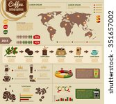 coffee worldwide consumption... | Shutterstock .eps vector #351657002