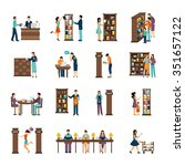 flat icons set of different... | Shutterstock .eps vector #351657122