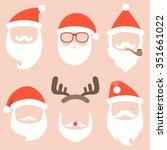 vector collection of santa hat... | Shutterstock .eps vector #351661022