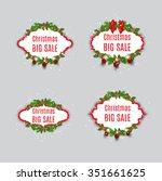 set of vector sale labels.... | Shutterstock .eps vector #351661625