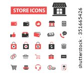store  shopping  retail  sales  ... | Shutterstock .eps vector #351665426