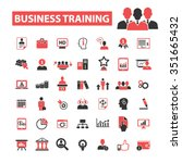 business training  icons  signs ... | Shutterstock .eps vector #351665432