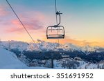 ski center of vogel  triglav... | Shutterstock . vector #351691952