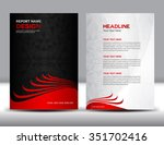 red annual report vector... | Shutterstock .eps vector #351702416