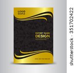 gold and black annual report... | Shutterstock .eps vector #351702422